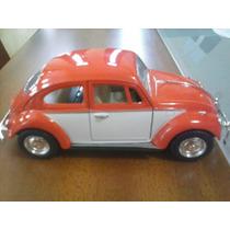 Fusca Miniatura 1:32 Com 11cm, Duas Cores (mini Saia)