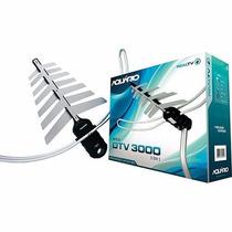 3x Antenas Dtv-3000 E 1x Dtv-5000 Conversor Aquário
