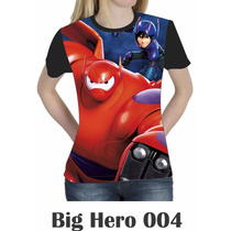 Camiseta Blusa Básica Big Hero Feminina Disney 004