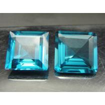 24 Cts Lindo Par De Topázio Azul London Blue Extra