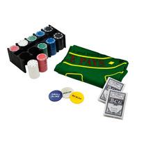 Kit Poker 200 Fichas Baralho Dealer