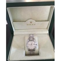 Rolex Presidente Day Date, Ouro Branco, Certificado E Estojo