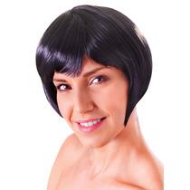 Peruca - Flirty Womens Ladies Flick Bob Glamour Sexy Preto