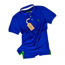 Camisa Camiseta Polo Masc Azul Mais De 30 Cores Sf Original