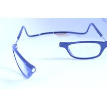 Óculos Armação Preta Leitura Magnético Imã +3,25