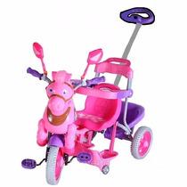 Triciclo Infantil Toca Musicas E Luzes Rosa Sem Capota