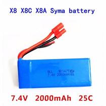 Bateria 7.4v 2000mah Para Drone Syma X8w ; X8c ; X8g