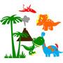 Adesivo Parede Dinossauro Decoração Decorativo Infantil Bebê