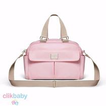 Bolsa Golden Silver Média Classic For Baby Bags - Rosa Claro