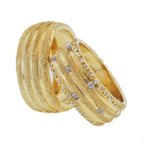 Par De Aliança Com Diamantes, 20 Gramas - Exclusividade!!