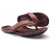 Chinelo Masculino Sandália Em Couro Zalupe Comfort