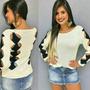 Blusas Roupas Femininas Tricot Renda Crochê Vazado Trançado