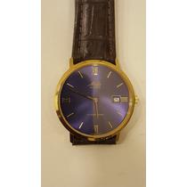 Relógio Mido Quartzo Plaque De Ouro Com Nota De Garantia