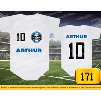 Body Ou Camisetas Times Grêmio Brasileiro Personalizado