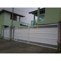 Portão Em Alumínio Branco Instalado