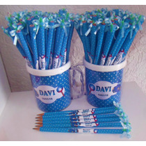 50 Lápis Personalizado - Lembrancinha Maternidade