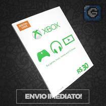 Microsoft Gift Card Cartão Xbox Live Brasil R$30 Reais