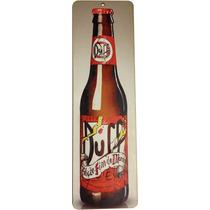 Placa Decorativa Cerveja Garrafa Duff 10x34