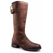Bota Montaria Feminina C/ Ajuste 100% Couro Capelli Boots