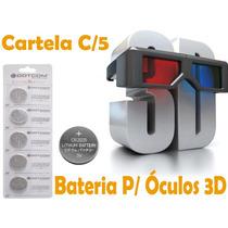 Bateria/pilha Para Óculos 3d Lithium Cr2025 Orig. C/05 Unid