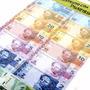 Mini Dinheiro Brinquedo Dinheirinho Notas Atuais - 140 Notas