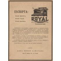 Máquina De Escrever Royal - Ano: 1914 - Fab.: New York