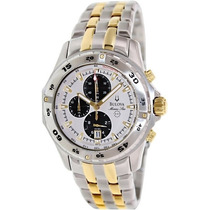 Relógio Bulova Marine Star 98b170 Misto Prata Ouro Original