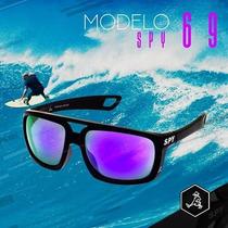 Óculos De Sol Spy Original Mod Pepper 69 Preto - Lente Ruby