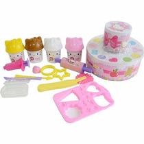 Bolo Festa Da Hello Kitty Em Massinha Sunny