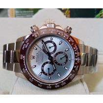 Relógio Eta Valjoux 7750 Modelo Daytona Platinum Ice Blue