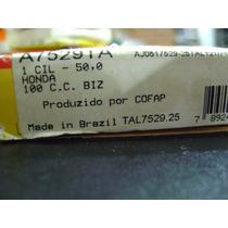 Anel Segmento Biz 100 / Dream 100cc / 0,50mm Metal Leve
