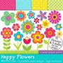 Kit Scrapbook Digital Flores Imagens Clipart Cod 18