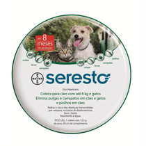 Coleira Anti Pulgas Seresto P Para Cães E Gatos 8 Meses