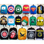 Lote 30 Mochilas Atacado_anime_super-heróis_geek_rock_series
