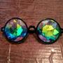 Óculos Caleidoscópio Psicodélico Diamond Rave Acid Drop Eyes