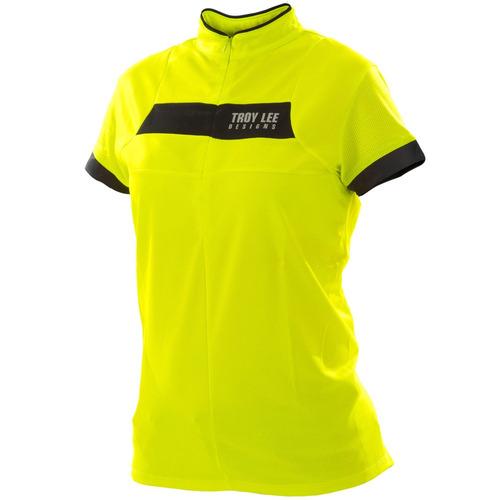 Camisa Bike Troy Lee Feminina Ace Yellow