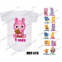 Kit 12 Body Mesversario Backyardigans Baby Personalize Nome