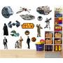 Adesivo Papel Parede Infantil Star Wars Kit Completo Mod.02