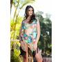 Kimono Com Top E Calcinha Hotpant Foto Real Do Produto