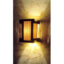 Luminaria De Parede Arandela Rustica Japones Sala