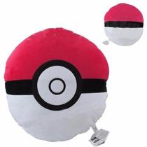 Travesseiro Almofada Pokemon Pokebola Pelucia Incriveis 33cm