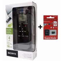 Gravador Voz Digital Sony Px440 4gb + Memória 32gb Brinde