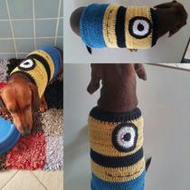 Roupinha Blusa Pet Cachorro Em Crochê Cores Variadas