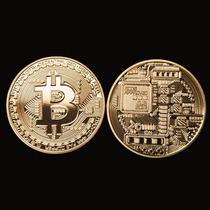 Bitcoin Moeda Física Comemorativa Banhada A Ouro
