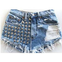 Shorts Jeans Hot Pants Customizado Destroyed