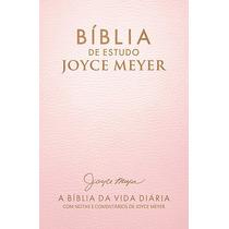 Bíblia Estudo Evangélica Joyce Meyer Cor Rosa