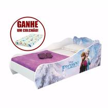 Mini Cama Infantil Frozen Disney C/ Colchão - Elsa Anna Olaf