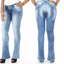 Sawary Calça Jeans Feminina Levanta Bumbum Flare Sabrina