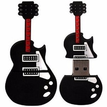Pendrive Personalizado 4gb Guitarra Preta Musica Pendrive