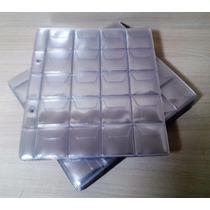 Folha Plastico Moedas 20 Divisões 2 Furos Com Aba (52216)